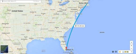 Boston to Miami