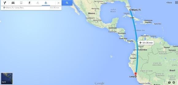 Miami to Lima